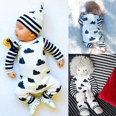 Newborn Infant Baby Girl Boy Clothes Striped Bodysuit Romper Jumpsuit Outfits ( not include hat )