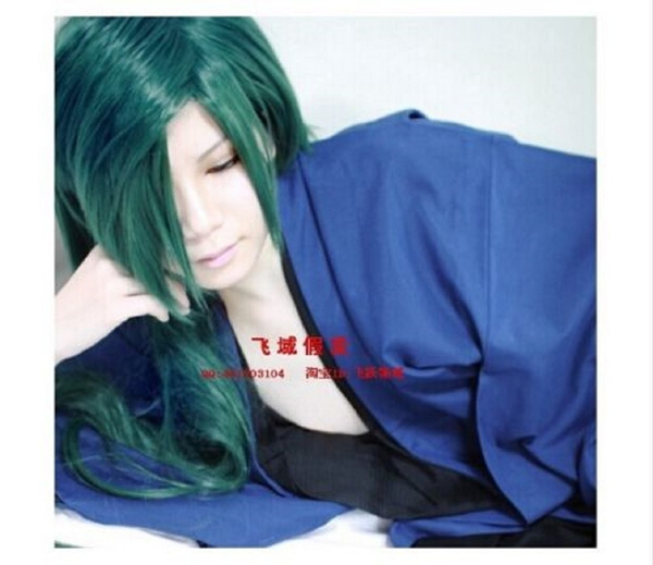 Jae-Ha  Akatsuki no Yona Cosplay Wig Green Dragon Cos Prop Short hairstyle 100cm