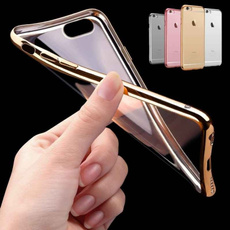 Luxury Ultra Slim Clear Soft TPU Phone Case With Electroplating Frame Protection Cover Compatible