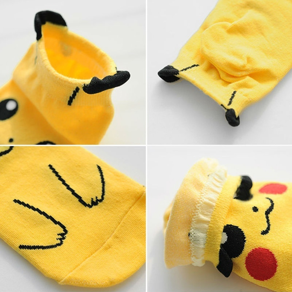 pokemon Pocket Monsters Unisex Pikachu Bulbasaur Squirtle Psyduck Cotton Low-Cut cartoon Socks Fashion Men And Women Crew Socks