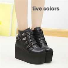 wedge, Goth, Fashion, Womens Shoes