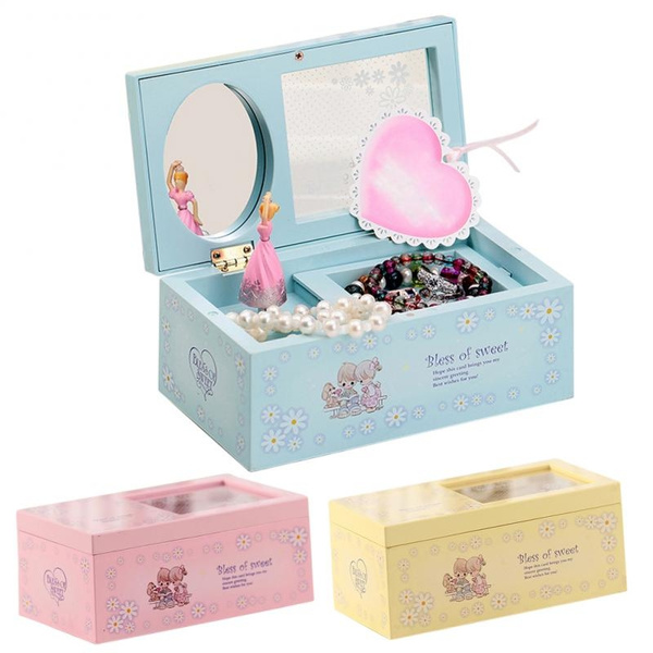 Picture of Rotating Music Box Mirror Ballet Jewelry Music Box Wedding Birthday Gifts Sent By Random Color Size 17cm W X 9cm D X 7cm H