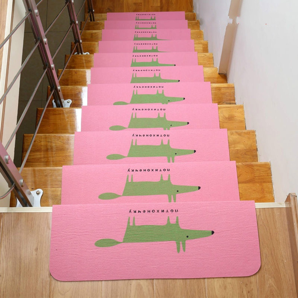 Wish | 3pcs Stair Treads Anti Slip Stair Mats Rugs Pads Runner Mute  Staircase Carpet Home Rug