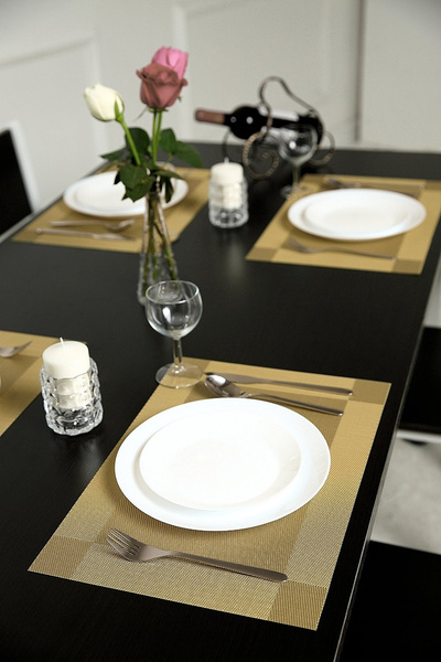 Wish | PVC Dining Room Placemats for Table Heat Insulation Stain ...