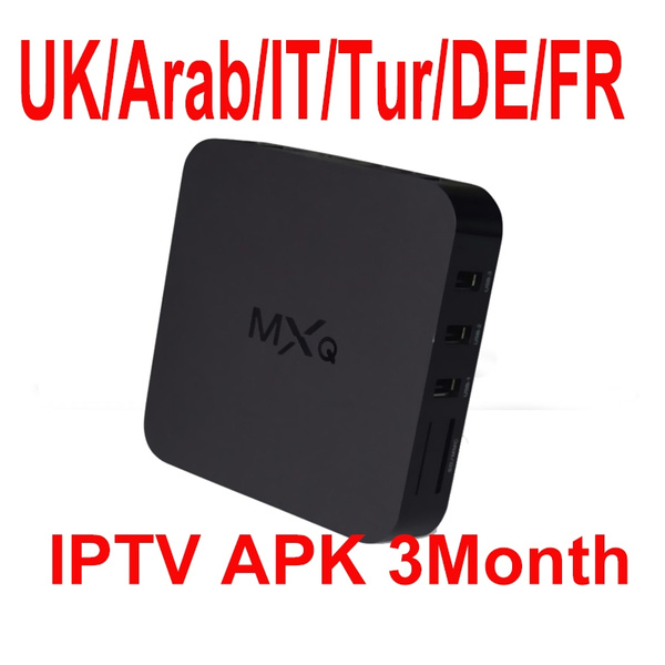 MXQ IPTV box include 3month 400+ IPTV channels Europe Spain France Arabic  UK IT Turkey Portugal Sport channels provide testing
