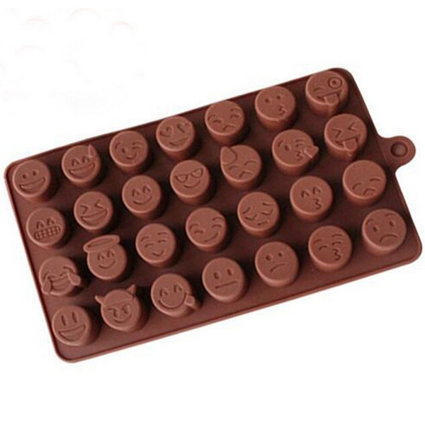 Mold  Expression Silicone Emoji Ice New Arrival Chocolates Baking Cake Candy