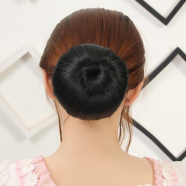 Women Black Cool Apple Hair Style Chignon Hair Bun Hairpiece Extensions Synthetic Hair Chignon Buns High Quality Clip In Hair Donut Bun Maker Roller
