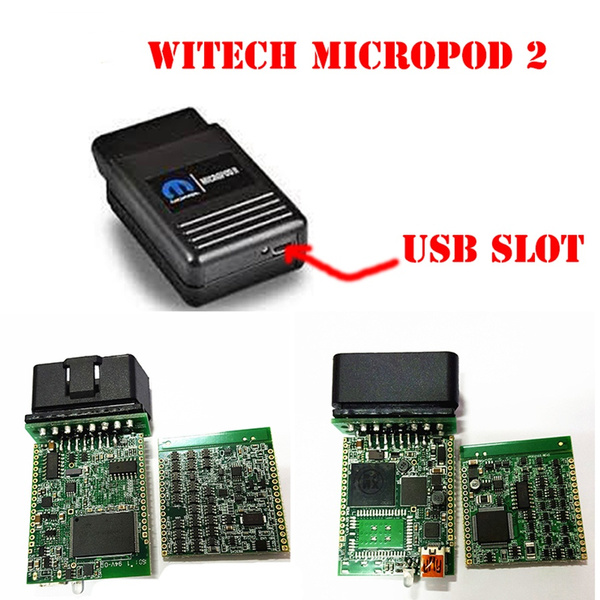 wiTech MicroPod 2 for Chrysler / Doge / Jeep / Fiat v17 04 27 Support  Multi-Languages Chrysler latest diagnostic tool