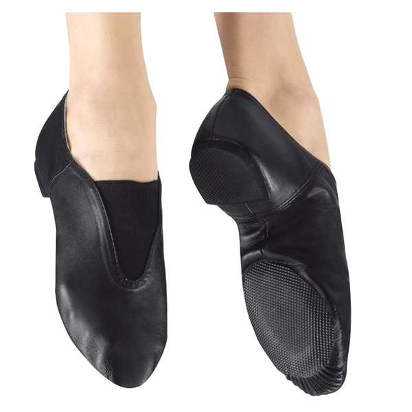 Dance Women//Mens Leather Slip-On Split Sole Jazz Shoe/…