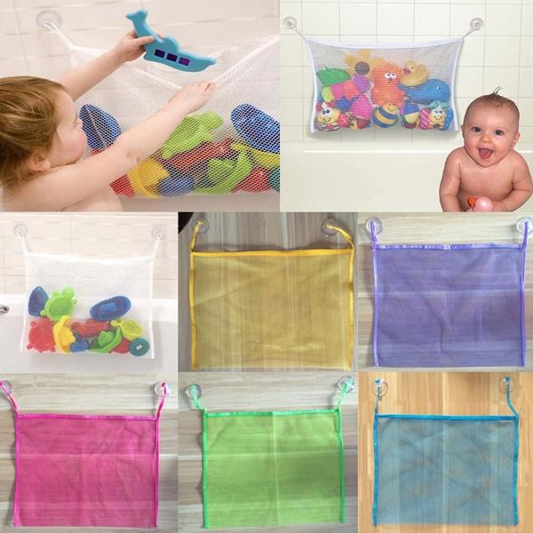 Big Colorful Baby Bath Bathtub Toy Mesh Net Storage Bag Organizer Holder  Bathroom Organiser