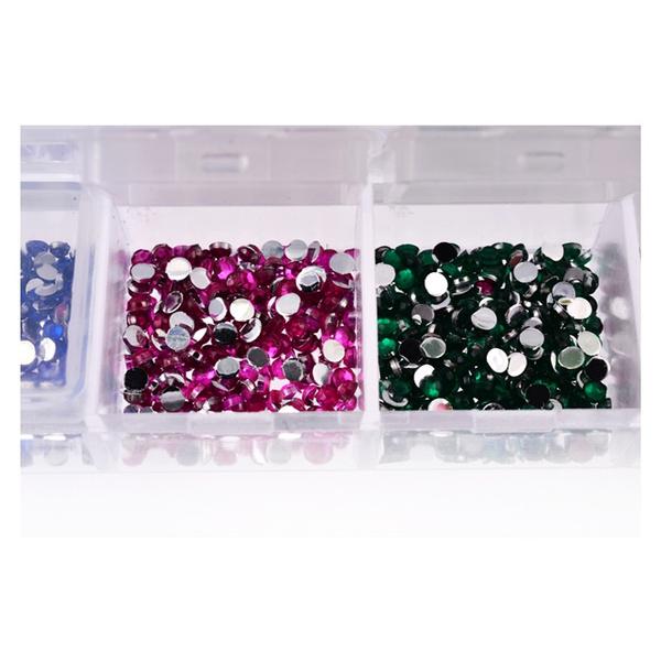 Wish | 2000pcspcs/box 12color 2mm Acrylic Nail Art Drill Glitter ...