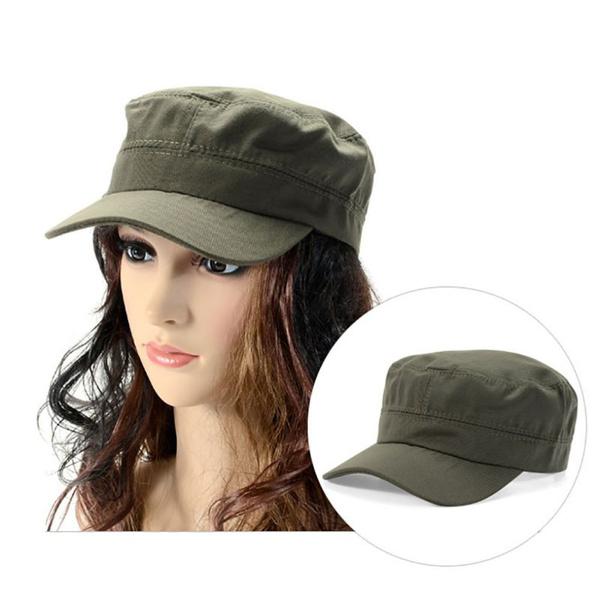 60cae4e0a2d5f6 Military Hat Army Cadet Patrol Castro Cap Men Women Golf Driving ...