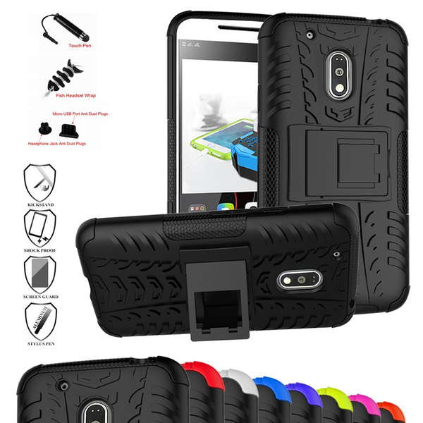huge discount 2fd7f dbbcf MOTO G4 Play Case,Mama Mouth Shockproof Heavy Duty Combo Hybrid Rugged Dual  Layer Grip Cover with Kickstand For Motorola MOTO G4 Play Smartphone ...