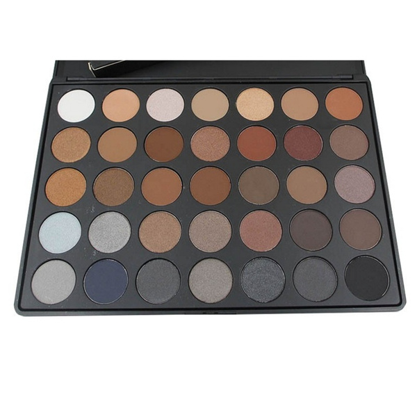 35 Color Eyeshadow Palette Earth Warm Color Shimmer Matte Eye Shadow Beauty Makeup Set