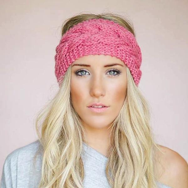 23 Colors Knitted Turban Headbands For Women Winter Warm Crochet