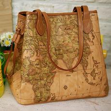 Map, Totes, Tote Bag, bowling