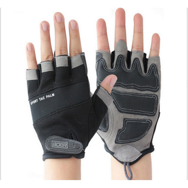 Nylon mountain bike riding gloves outdoor sports gloves cycling equipment  and a half tactical gloves