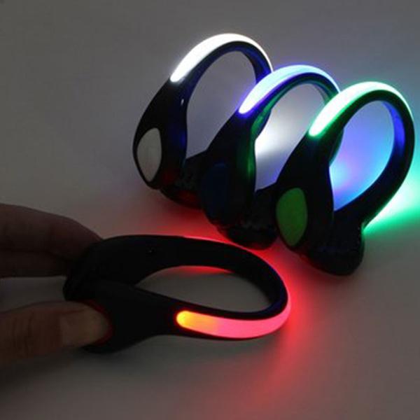 LED Luminous Shoe Clip Light Night Safety Warning Bike Cycling Running Sports