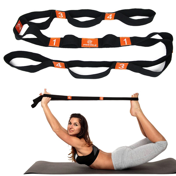 PROCIRCLE 70in Multi-Grip Stretch Strap Yoga Exercise Flexibility  Stretching Out Rope
