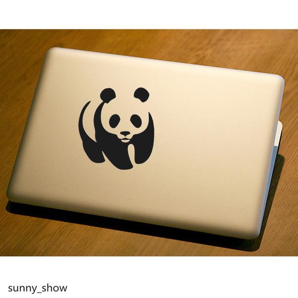 Wish | 2Pcs Cute PANDA Car Wall Vinyl Bumper For Ipad Apple Laptop ...