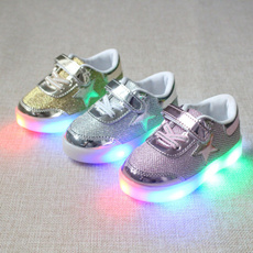 Autumn Children's Shoes Children Shoes Led Flash Light Colorful Little Shoes Slip