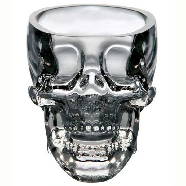 Picture of New Crystal Skull Head Vodka Whiskey Shot Glass Cup Drinking Ware Home Bar