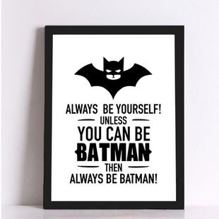 Picture of Xql Art Boutique Batman Canvas No Frame Art Print Poster Wall Pictures For Home Decoration