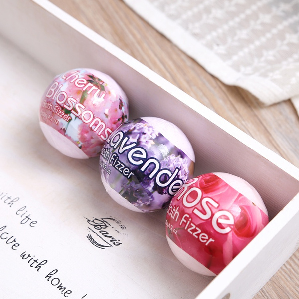 Picture of 1 X Sakura Rose Smell Pack Of 1 Oil Sea Salt Handmade Bath Ball
