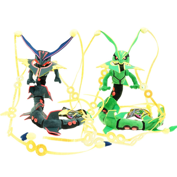 Pokemon Center Plush Doll Shiny Mega Rayquaza Green & Black Stuffed Animal  Plush Toy Gift