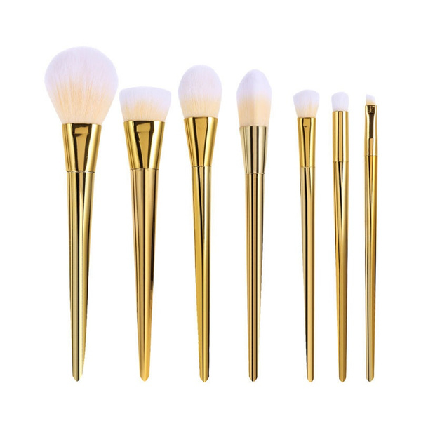 NEW Techniques Makeup Brushes Bold Design Metal Handle Real RT 7 Pcs RT Set 240