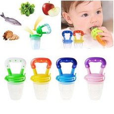 1pc Baby Nipple Fresh Food Milk Nibbler Feeder Feeding Tool Safe Baby Supplies Must-tool (Size: S/M/L,Color:blue/pink/yellow/green)