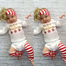 3pcs Newborn Kids Baby Girls Infant Romper Jumpsuit Bodysuit Clothes Outfits Set(Romper+Leggings+Headband)