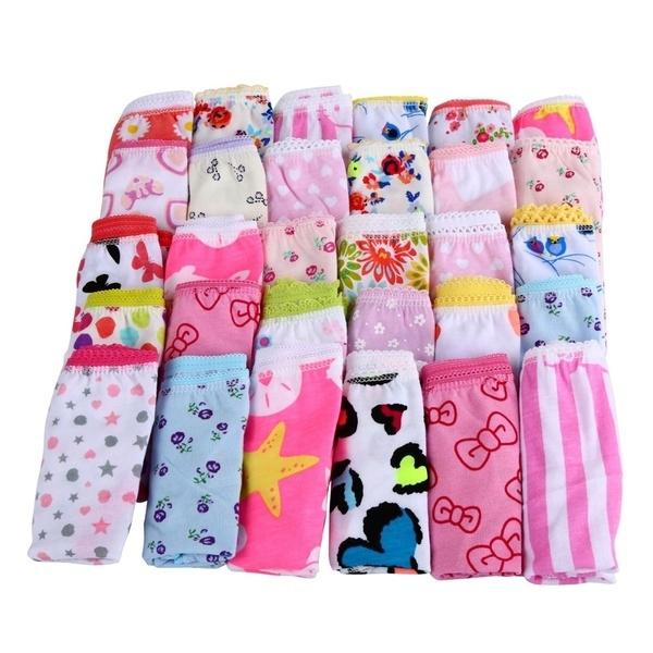 6pcs//pack New Baby Girls Underwear Cotton Panties Kids Short Briefs Underpants