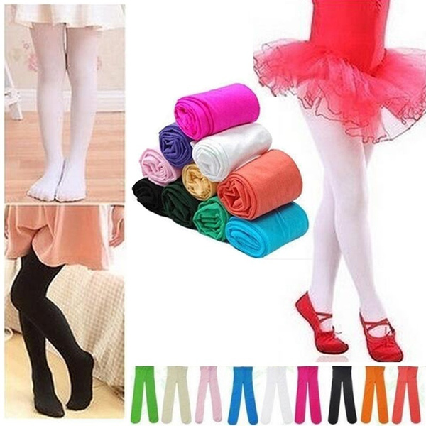Tights Pantyhose Hosiery Stockings Child Girls Ballet Dance Opaque Party Babys