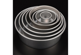 8 Size Aluminum Alloy Removable Bottom Round Cake Baking Mould Pan Bakeware Tool (Size: 2 inch) wbtif