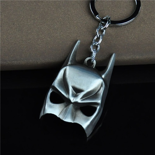 High Quality Zinc Alloy Mini Batman Mask Key Chains The Dark Knight Mask Keychains for Mens