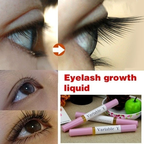 Picture of Hot Makeup Brand Powerful Eyelash Growth Treatments Liquid Serum Enhancer Eye Lash Longer Thicker Color Pink