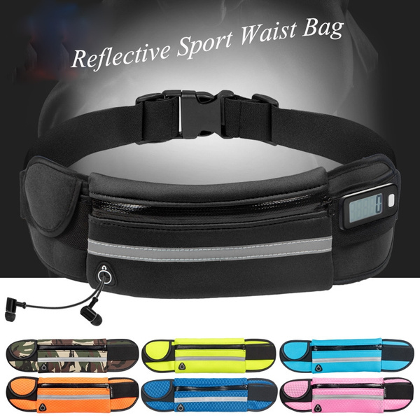 Picture of Multifunction Reflective Stretch Jogging Anti-theft Running Pockets Outdoor Sports Canvas Bag Phone Kettle Invisible Phone Waist Bag