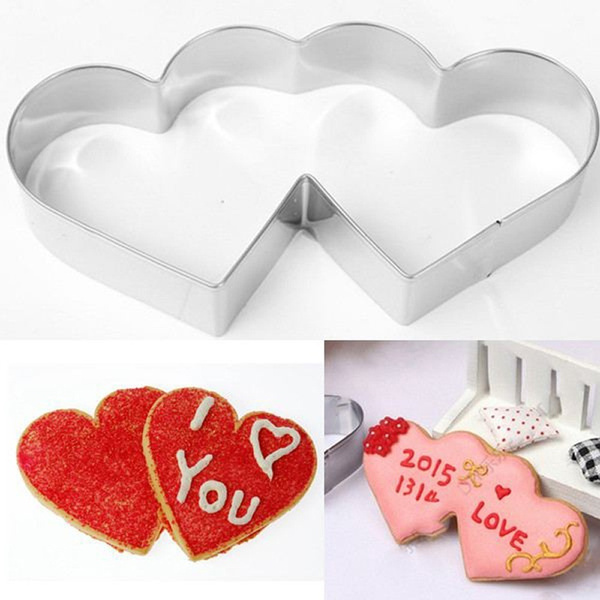 Heart Fondant Biscuit Kitchen Baking Tool Cake Pastry DIY Mold Chocolate