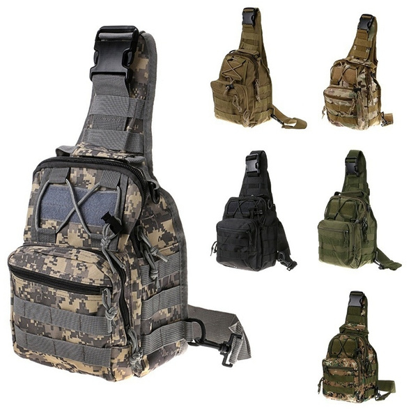 Climbing Bags Military Tactical Chest Pack Fly Equipment Nylon Wading Chest Pack Cross Body Sling Single Shoulder Bag