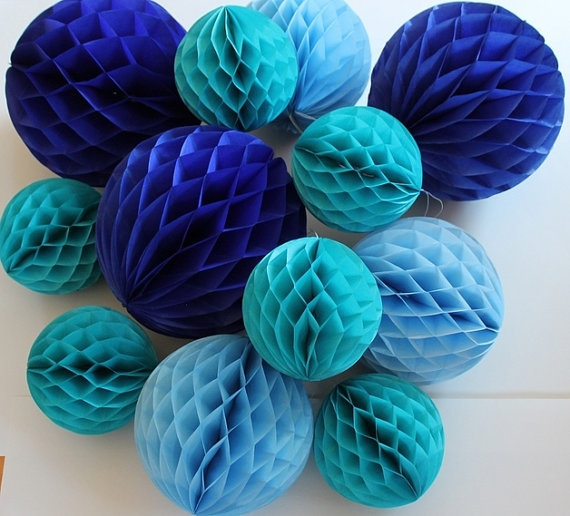 Picture of 615cm Decorative Tissue Paper Honeycomb Balls Flower Pastel Birthday Baby Shower Wedding Holiday Party Decorations