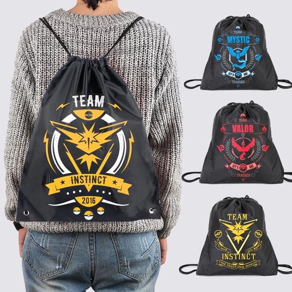 Picture of Pokemon Go Team Mystic Lnstict Valor Drawstring Backpack Newest Sports Sack Bag Outdoor Sport Shoulder Bag Travel Gym Bag