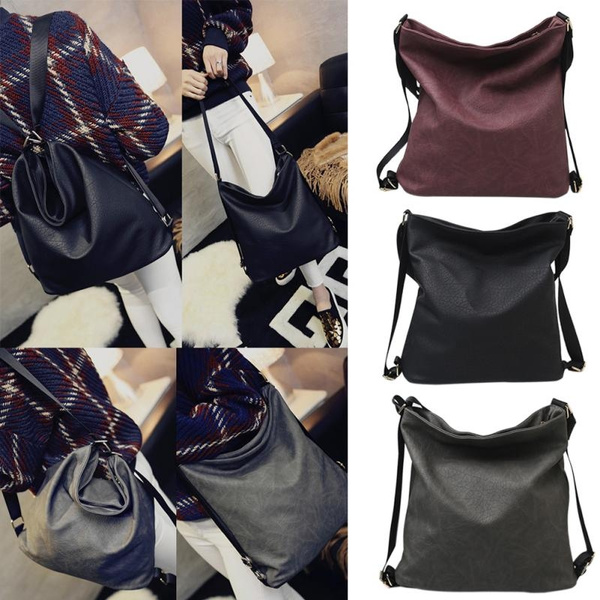 Picture of Men Women Simple Leisure Fashion Painting Design Pu Leather Backpack Crossbody Shoulder Bag Handbags