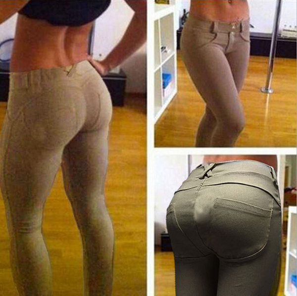 Womens Sexy Hip Push up Thin Pencil Skinny Pants Legging