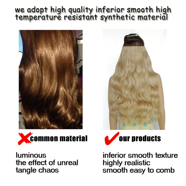 Wish 5 Clip In Hair Extensions Cheveux False Hair Extension Clips
