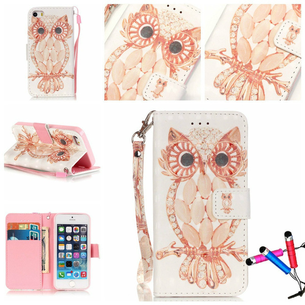 Picture of 3d Matte Pattern Wallet Case Card Pocket Kickstand Pattern Stand For Iphone 5 5s /Iphone Se / Iphone 6 / 6s / 6 Plus / 6s Plus /Samsung Galaxy Core Prime G360/ Grand Prime G530/ S4 I9500/ S5 /S6 /S7 / S7 Edge / S6 Edge / S6 Edge Plus