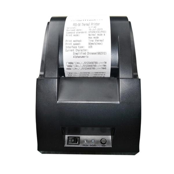 Practical USB Mini 58mm POS Thermal Dot Receipt Bill Printer Set Roll Paper  POS Z-5890