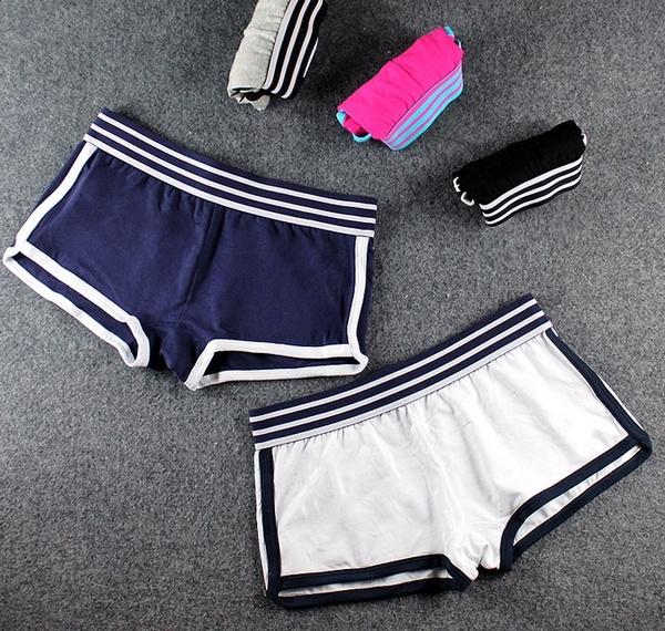 020268f4fea8cb Women Boxers Underwear Cotton Striped Sport Shorts Boxer Girls ...