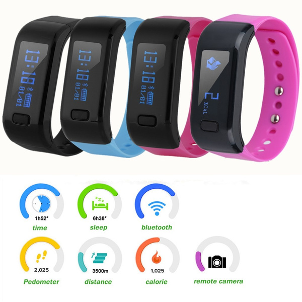 Picture of Excelvan Oled Smart Bracelet Ip67 Waterproof Bluetooth 4.0 Pedometer Tracking Calorie Health Wristband Smart Wristband For Android Ios