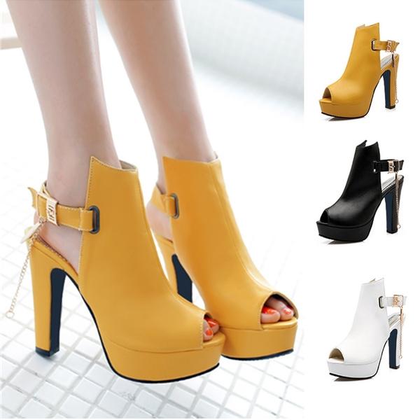 561639ca561 platformheel, Women Sandals, Zapatos para mujeres, womenfishmouthsandal